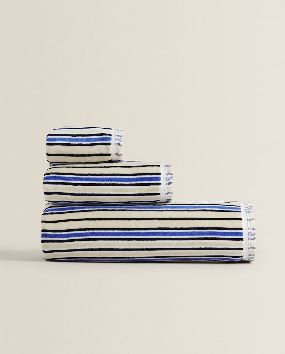 MULTI-STRIPED TOWEL