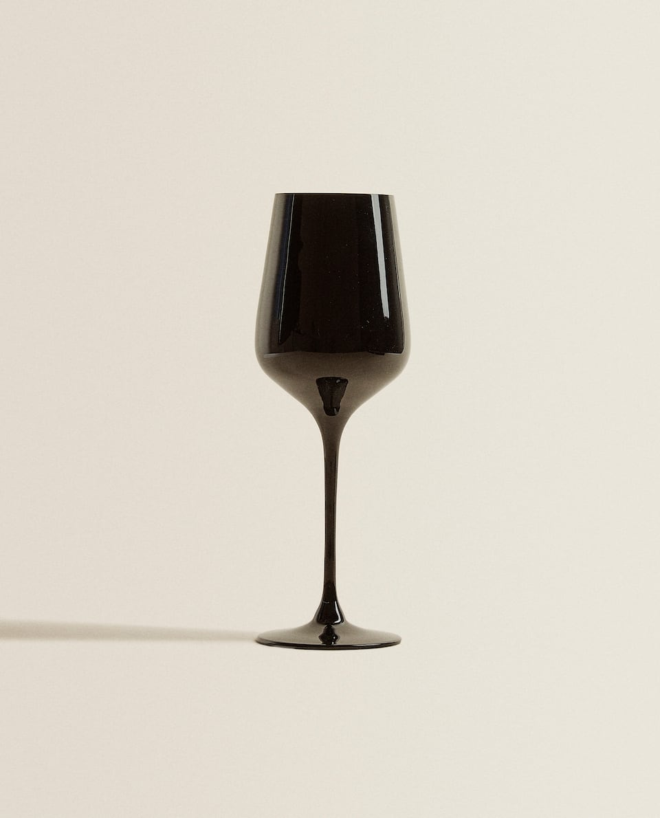 BLACK CRYSTALLINE WINE GLASS