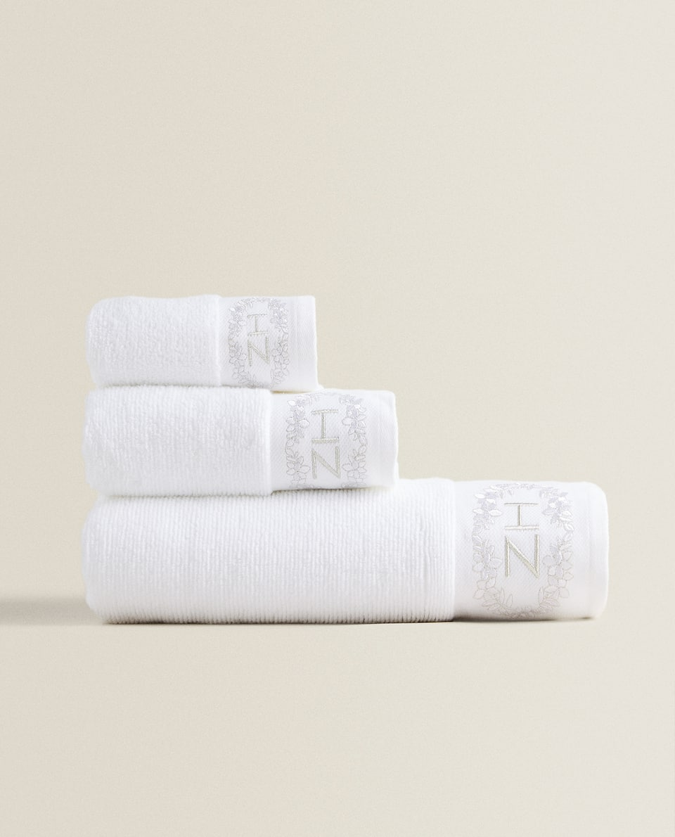 EMBROIDERED SOFT COTTON TOWEL