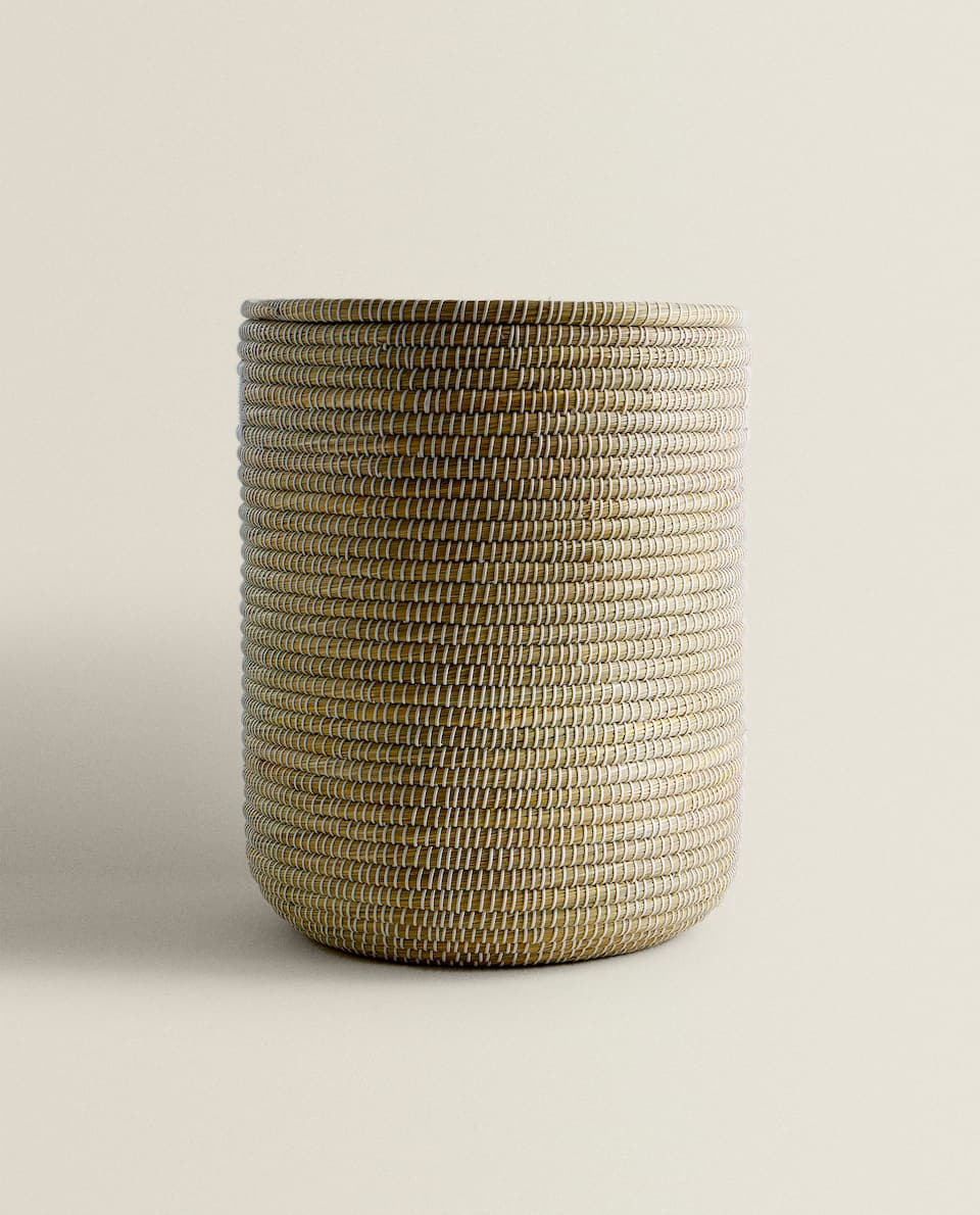 CYLINDRICAL BASKET WITH LID