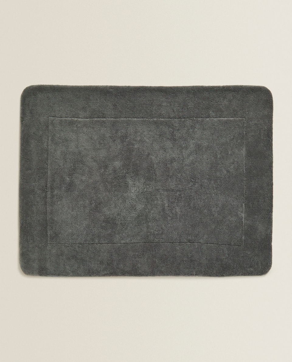 COMBED COTTON BATH MAT