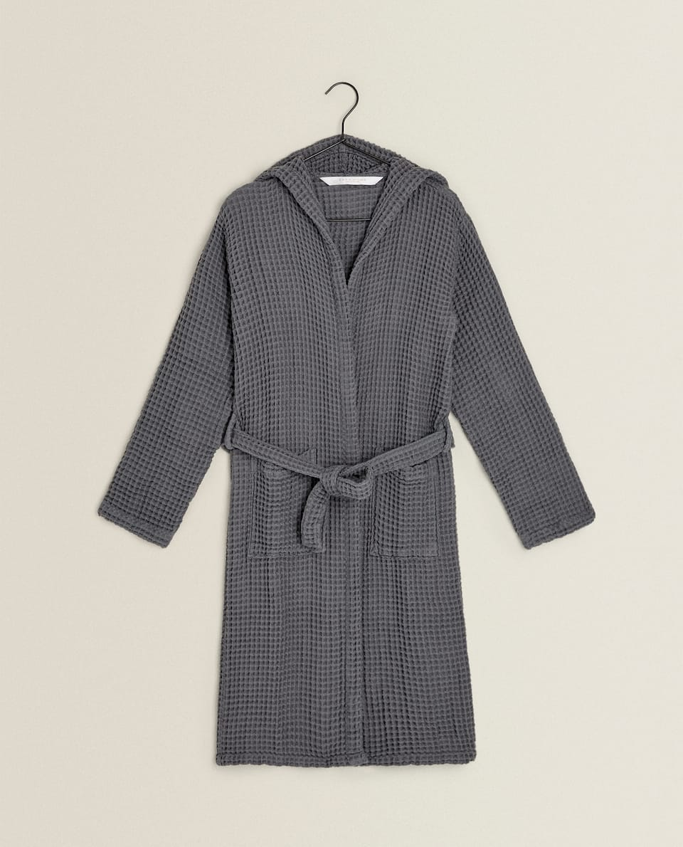 MINI WAFFLE KNIT DRESSING GOWN