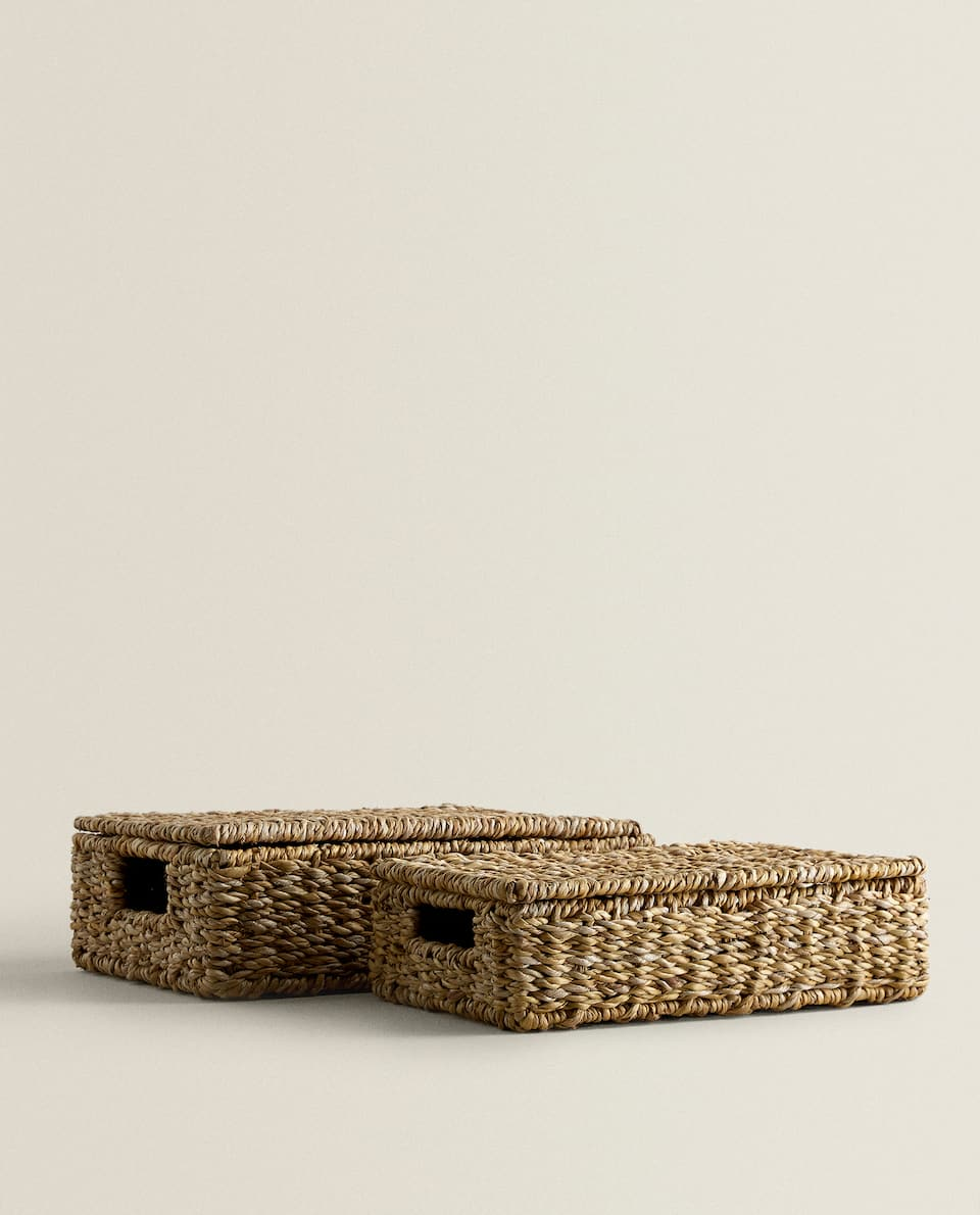 RECTANGULAR BASKET WITH LID