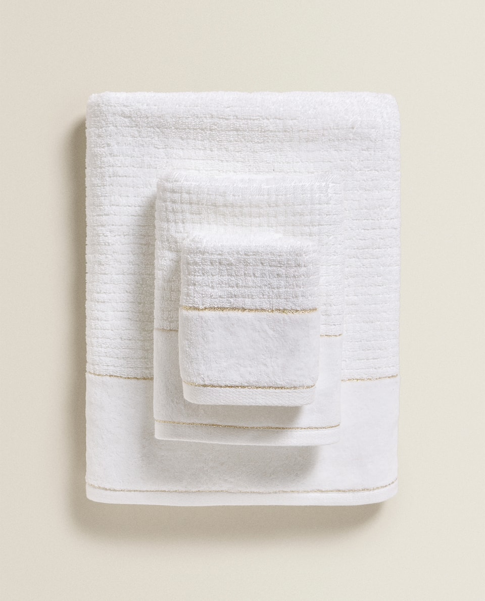 TEXTURED STRIPE TOWEL
