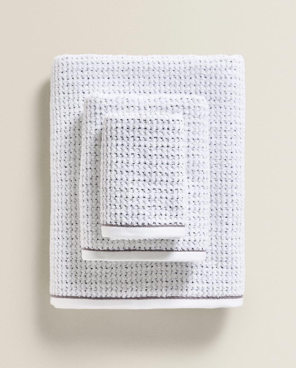 منشفة قطنية بمظهر وافل
