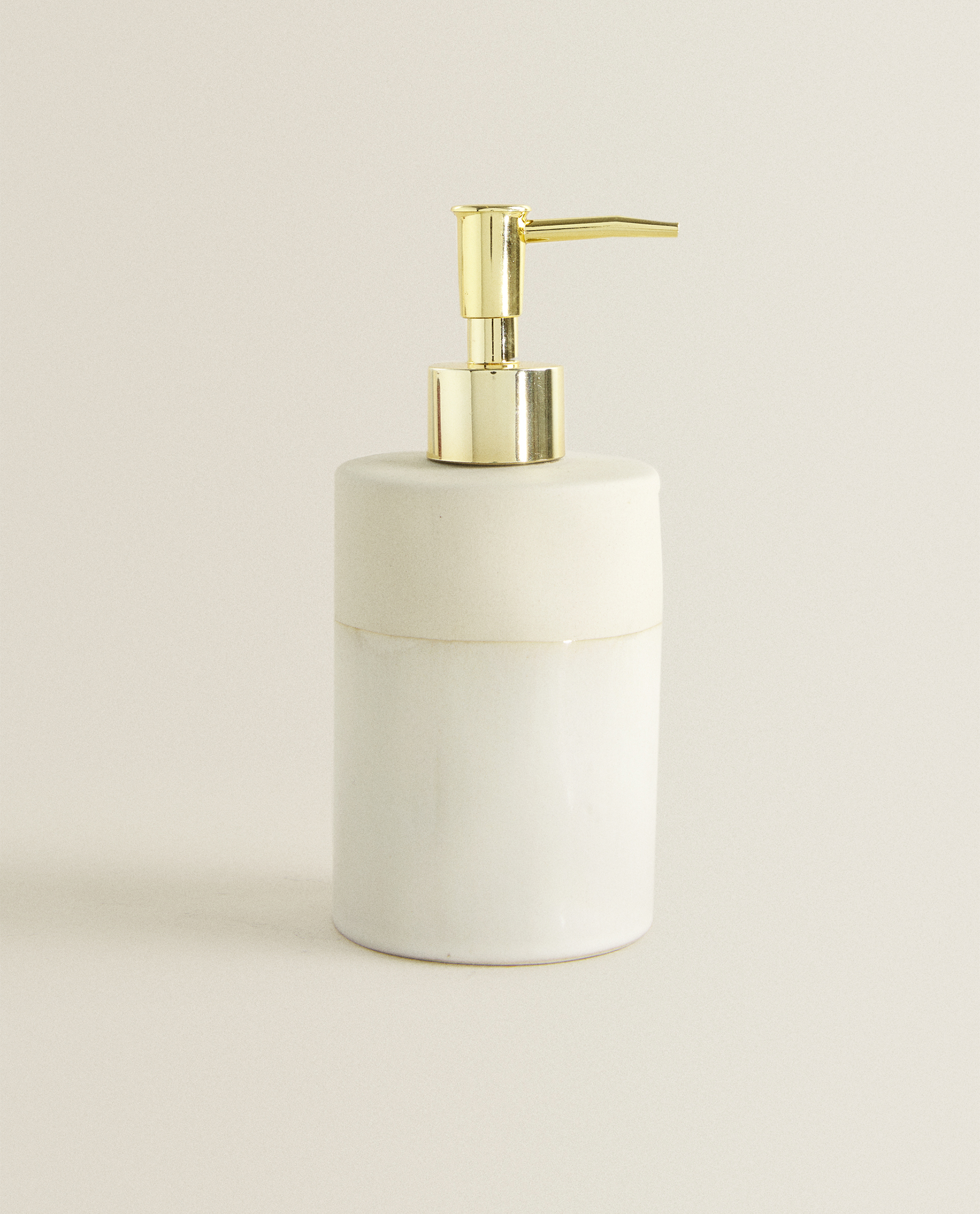 Beige Ceramic Soap Dispenser Baskets And Furniture Bathroom Zara Home Canada