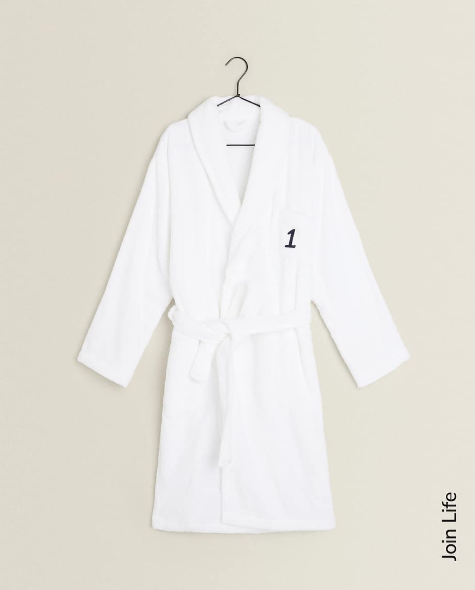 NUMBER 1 ECOLOGICALLY GROWN COTTON BATHROBE