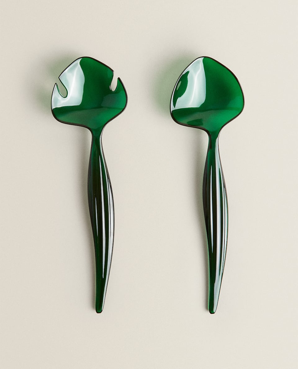 LEAF-SHAPED SALAD SERVERS (SET OF 2)