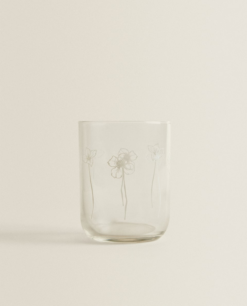 FLORAL SILK SCREEN TUMBLER