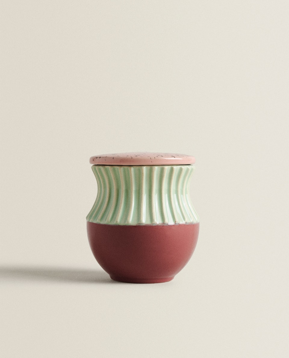 MULTICOLOURED CERAMIC POT