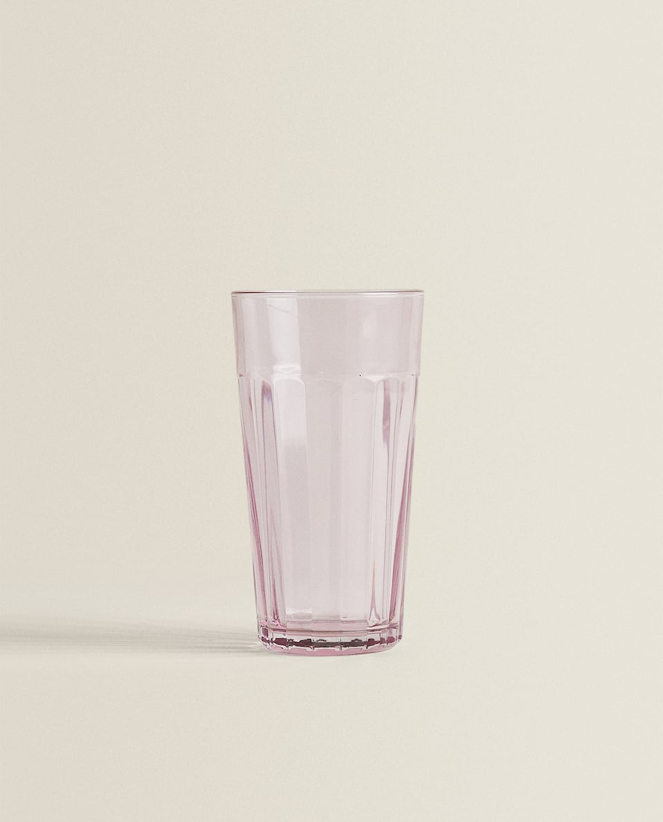 RAISED STRIPE DESIGN SOFT DRINK TUMBLER