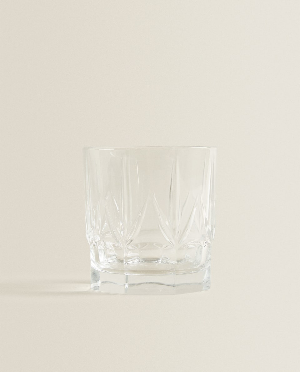 CUT GLASS CRYSTALLINE TUMBLER