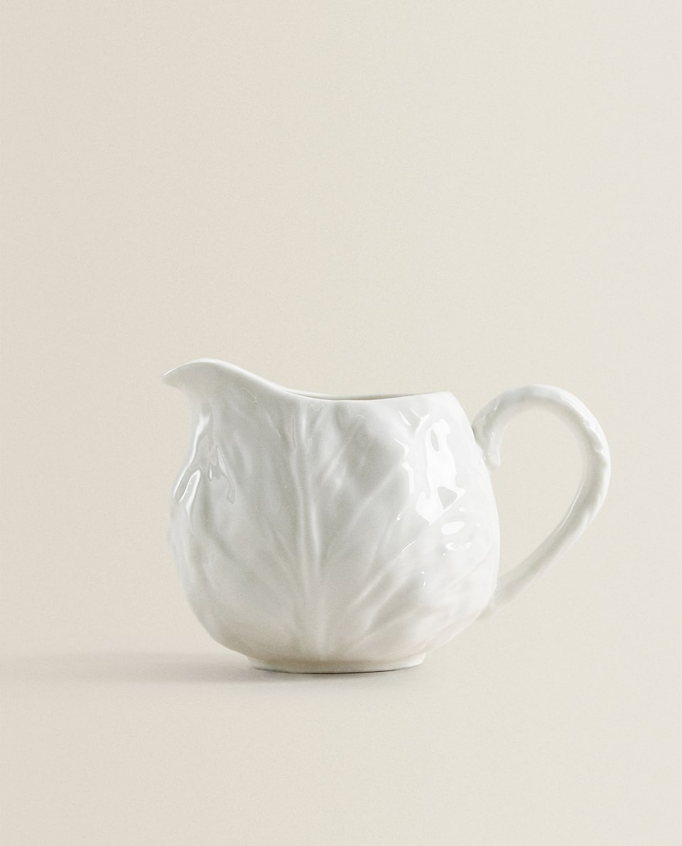 MILK JUG WITH PLANT TEXTURE