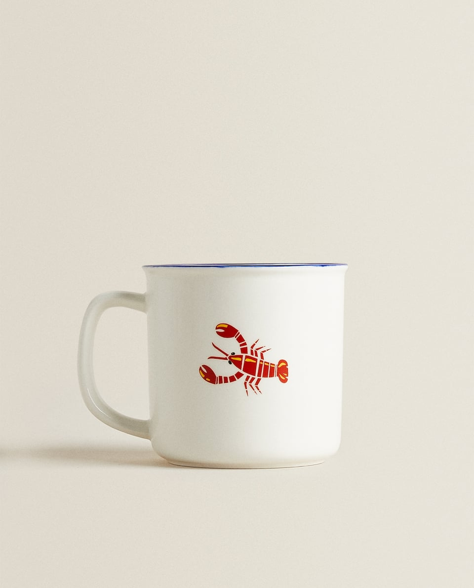 LOBSTER PORCELAIN MUG