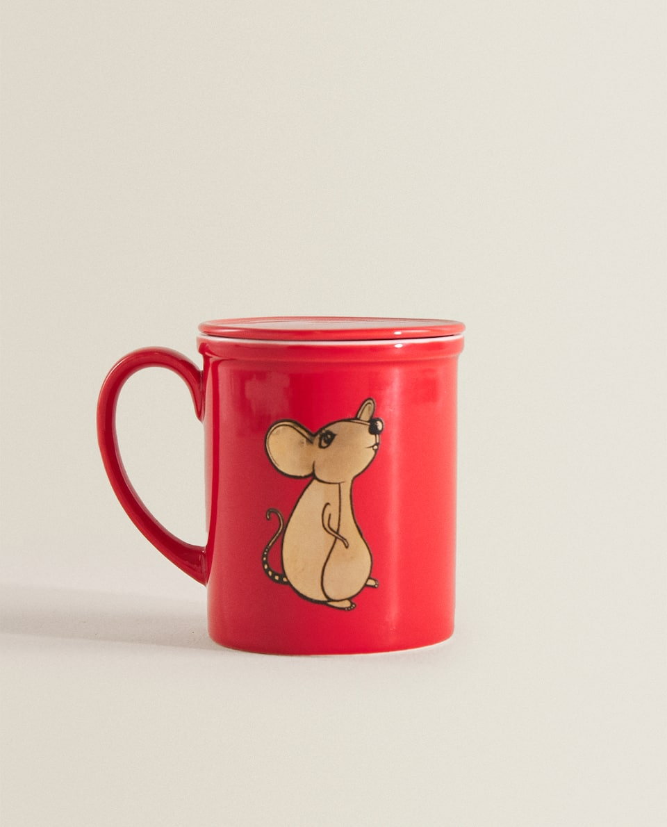 MOUSE MUG WITH LID