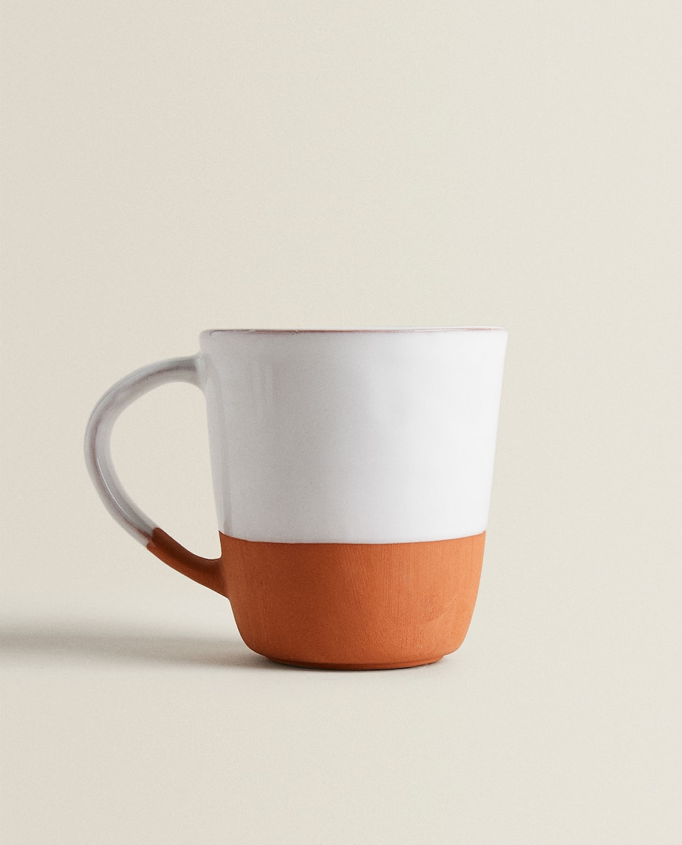 MUG BICOLORE IN TERRACOTTA