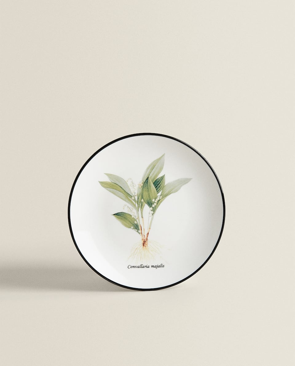 FLORAL PORCELAIN SIDE PLATE