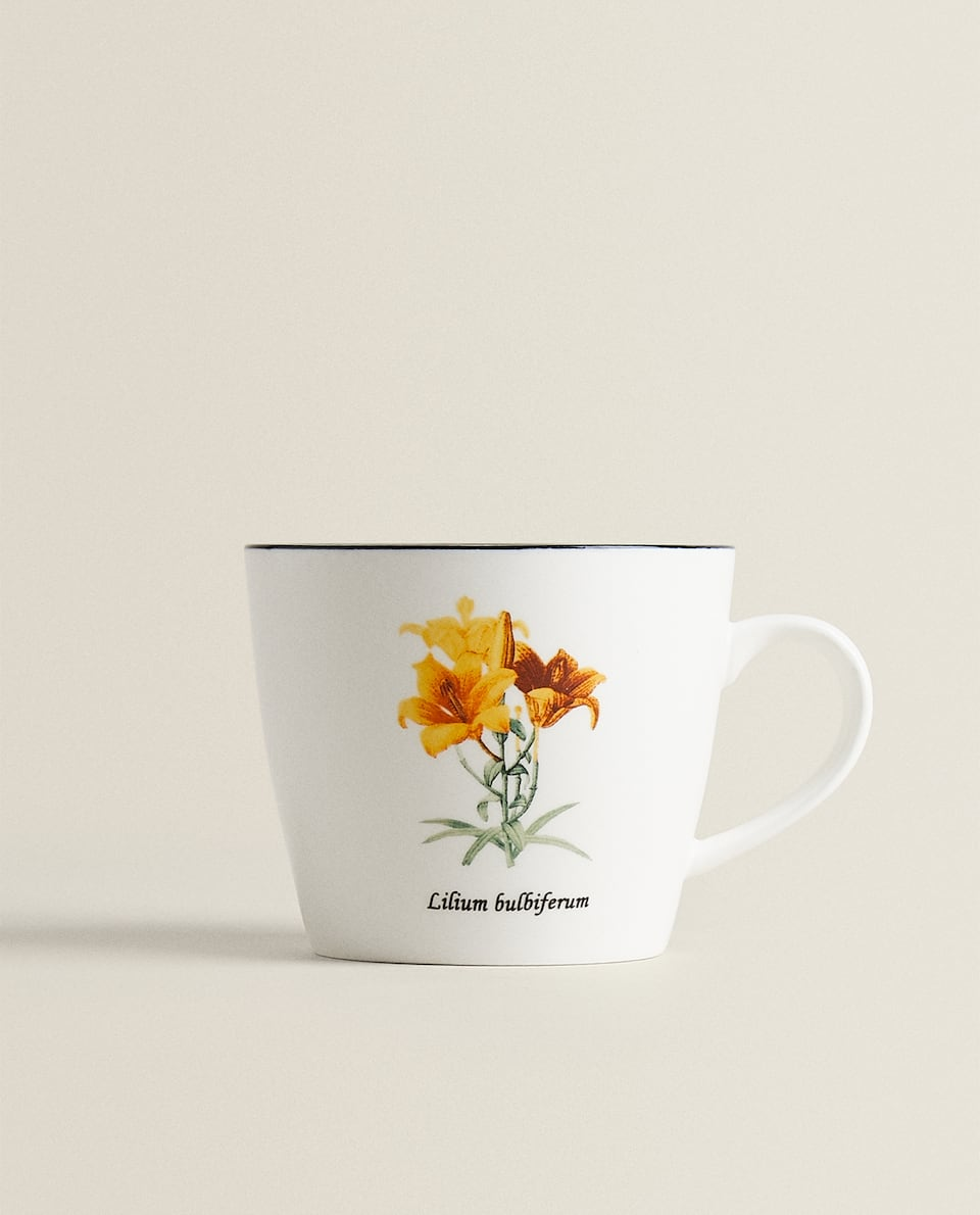 PORCELAIN MUG WITH FLORAL PRINT