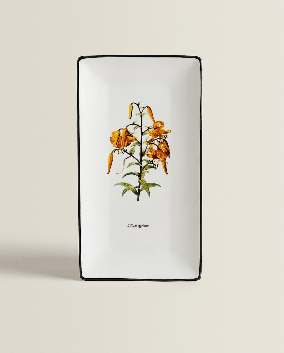 FLORAL PORCELAIN SERVING DISH