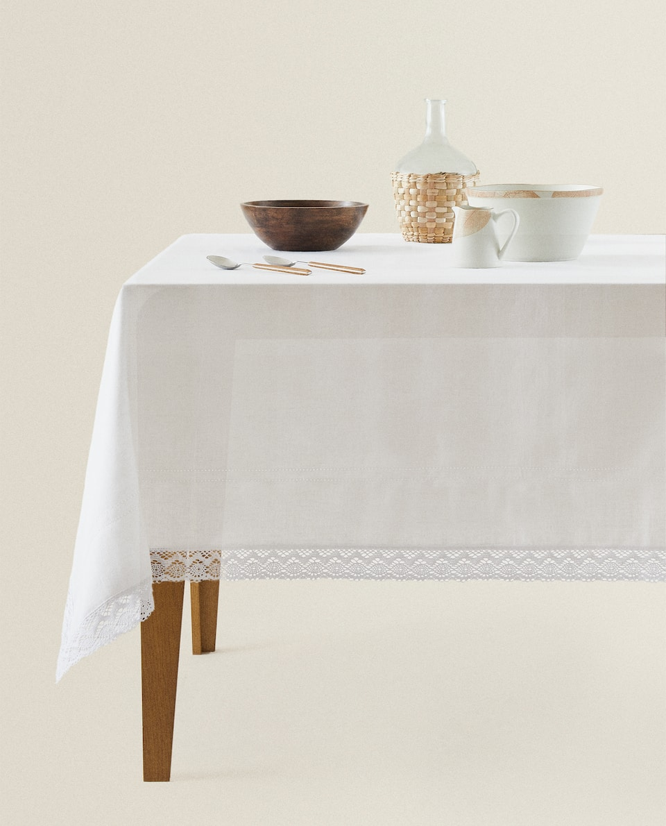 RUSTIC LINEN TABLECLOTH