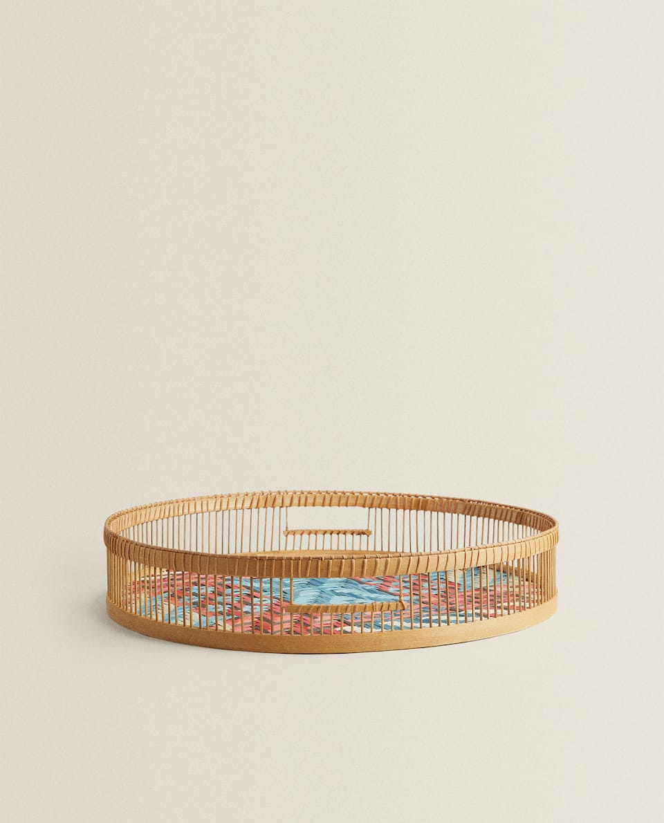 MULTICOLORED ROUND TRAY