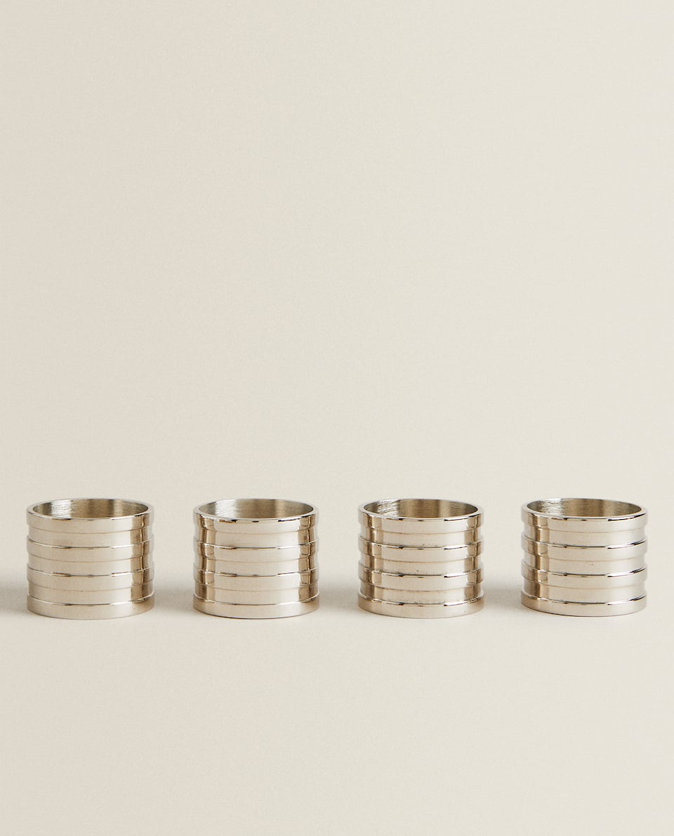 METAL NAPKIN RINGS (PACK OF 4)