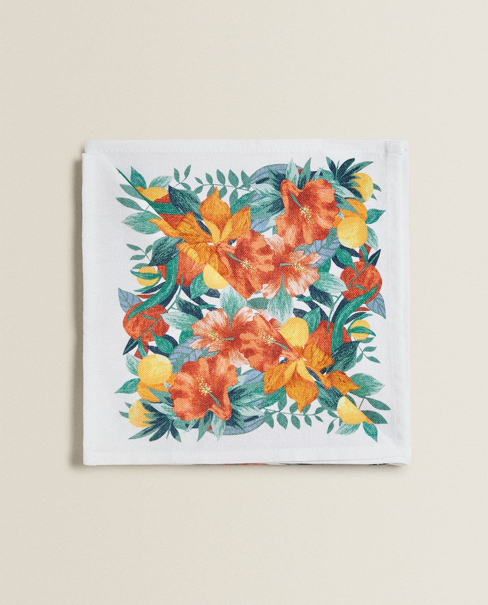 TROPICAL PRINT NAPKINS (PACK OF 2)
