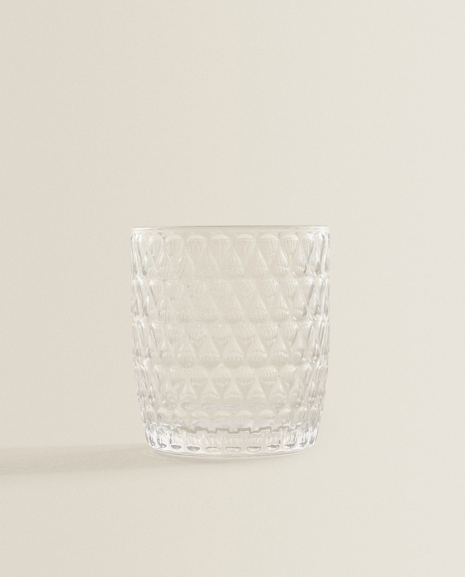 RAISED DROPLET DESIGN TUMBLER