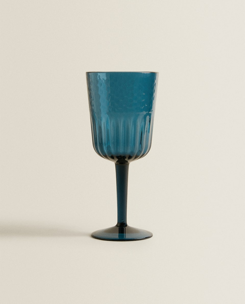 HAMMERED ACRYLIC WINE GLASS