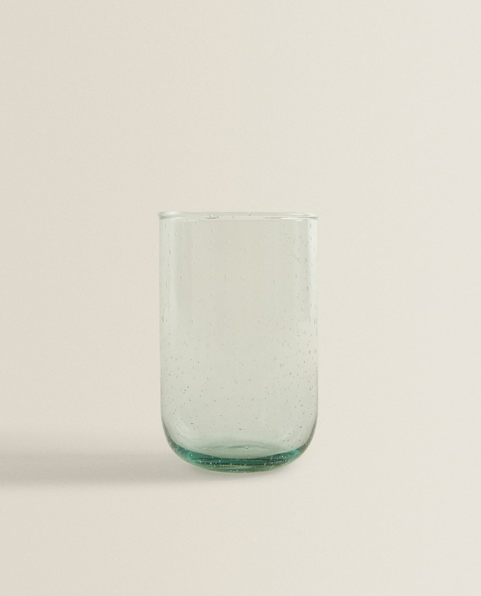BUBBLED GLASS SOFT DRINK TUMBLER