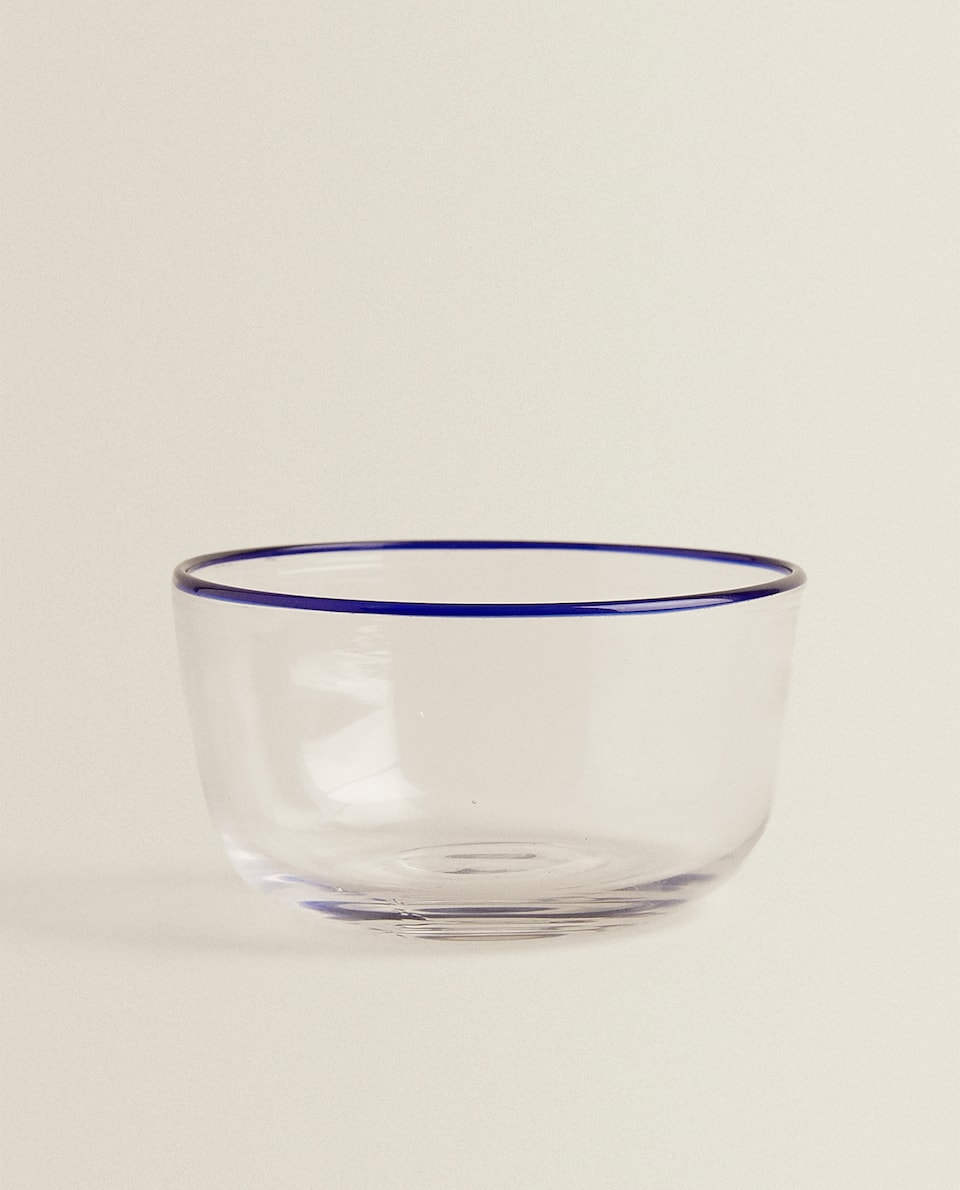 BOWL WITH COLOURED RIM