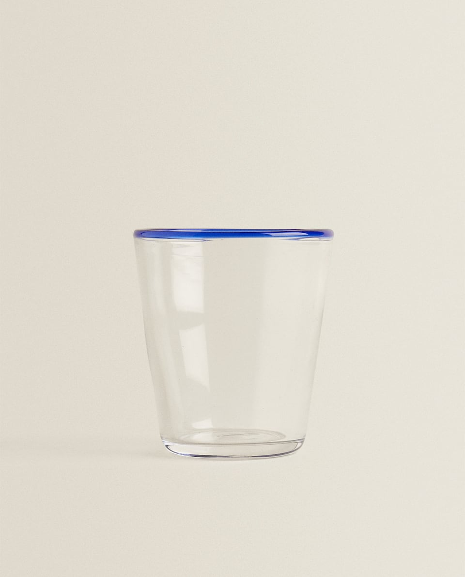 COLOURED RIM TUMBLER