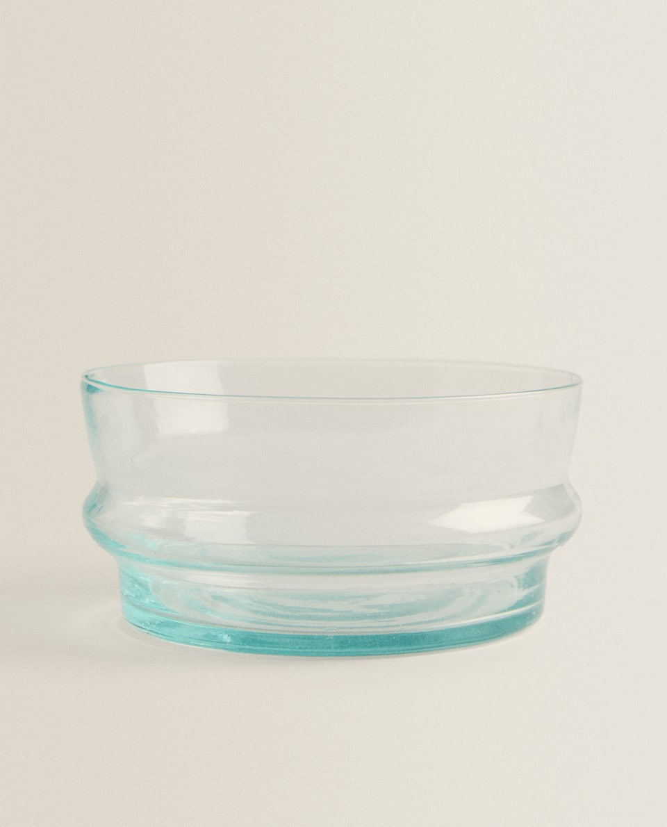 BLOWN GLASS SALAD BOWL