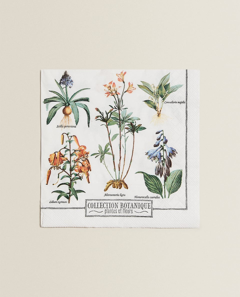 BOTANICAL PRINT NAPKINS (PACK OF 20)