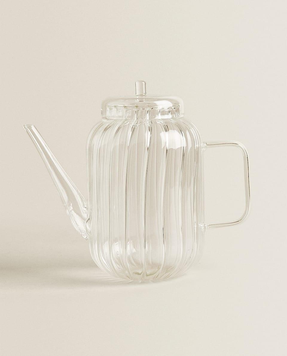 إبريق شاي من زجاج البورسليكات