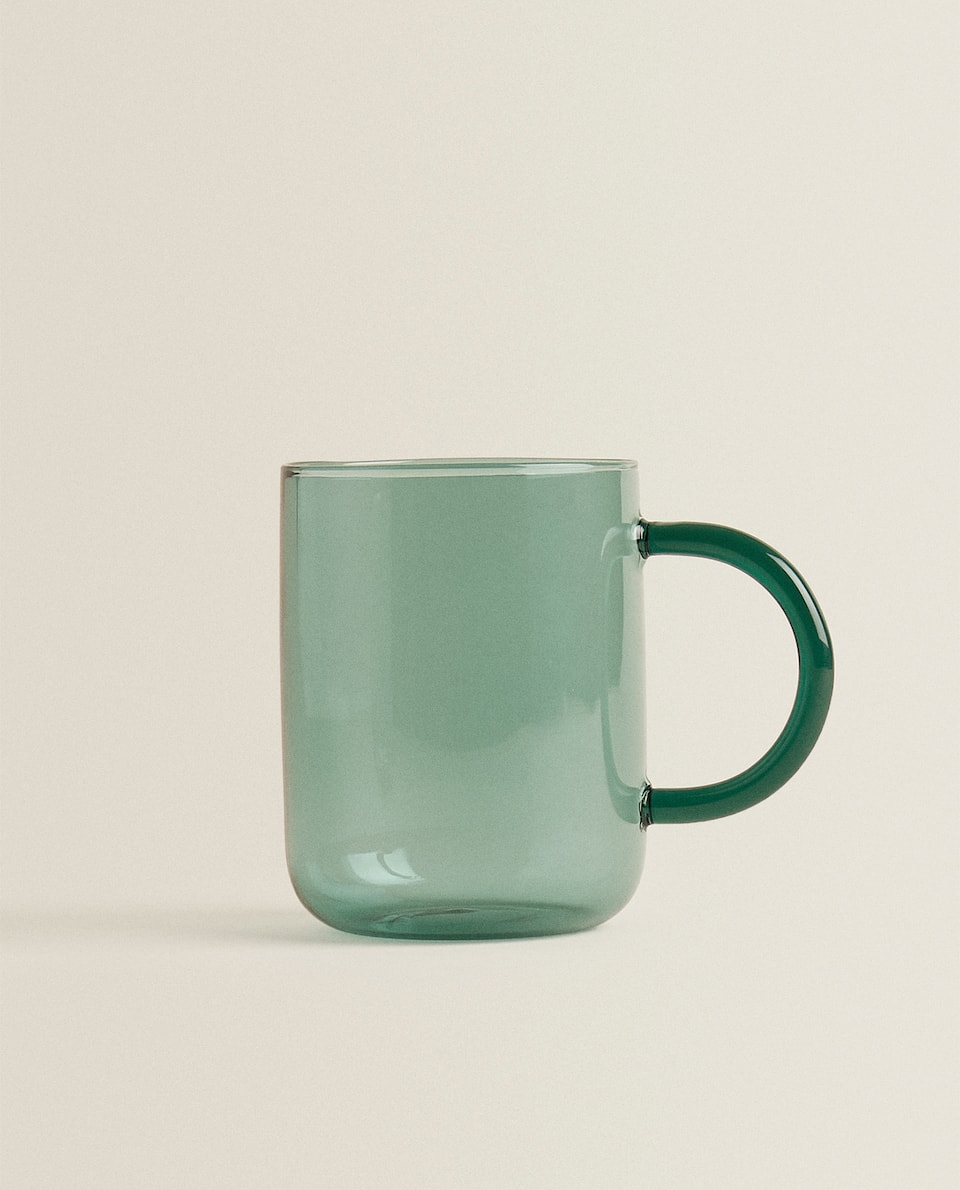 PLAIN BOROSILICATE GLASS MUG