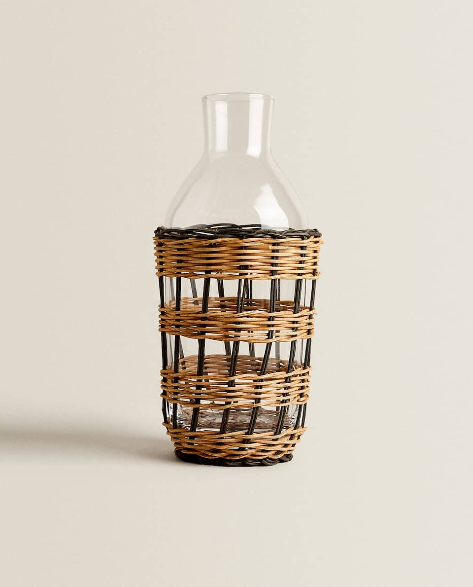RATTAN DETAIL BOTTLE
