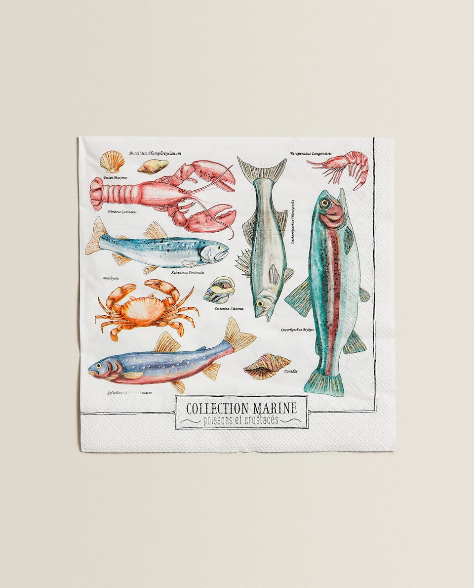 MARINE PRINT NAPKINS (PACK OF 20)