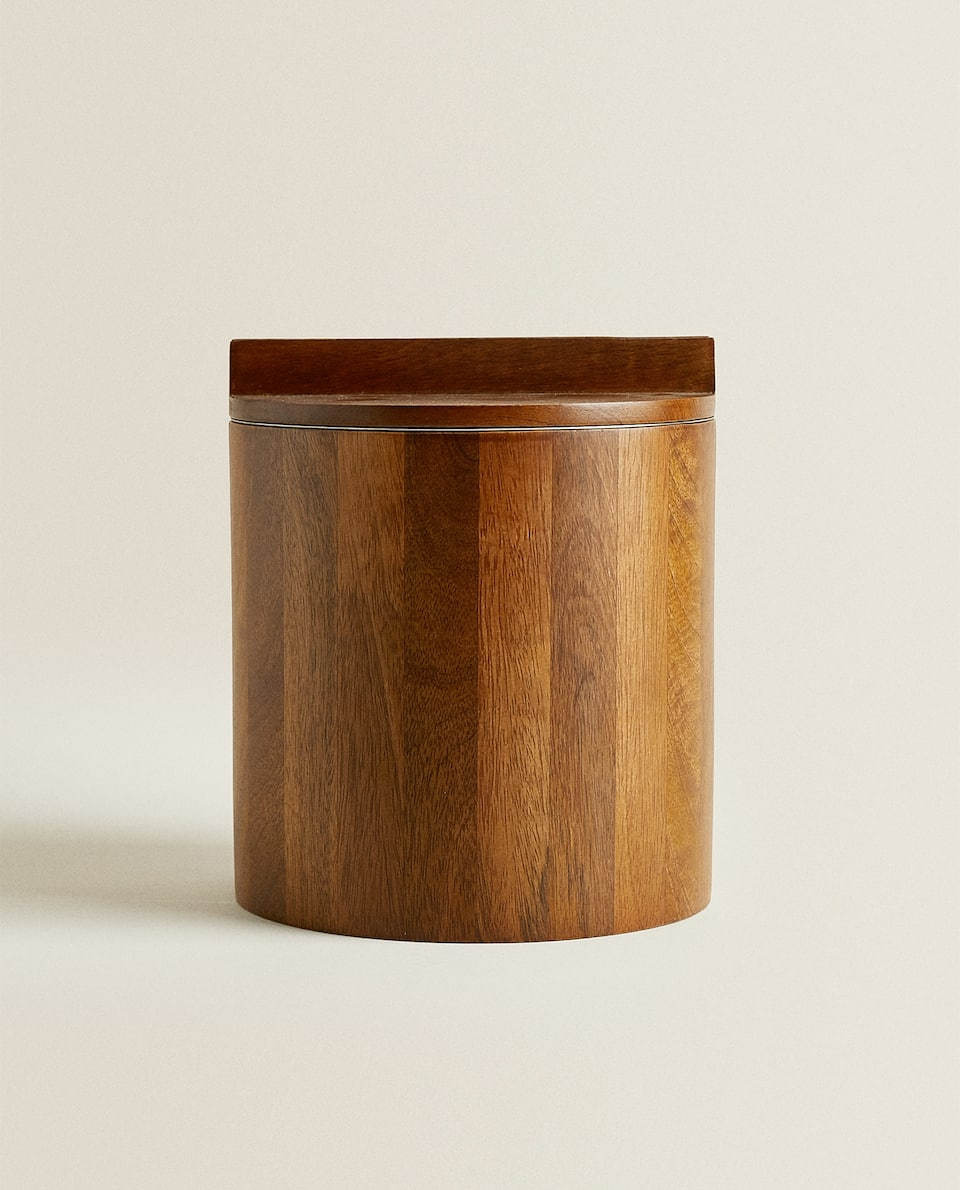 STEEL AND WOOD ICE BUCKET