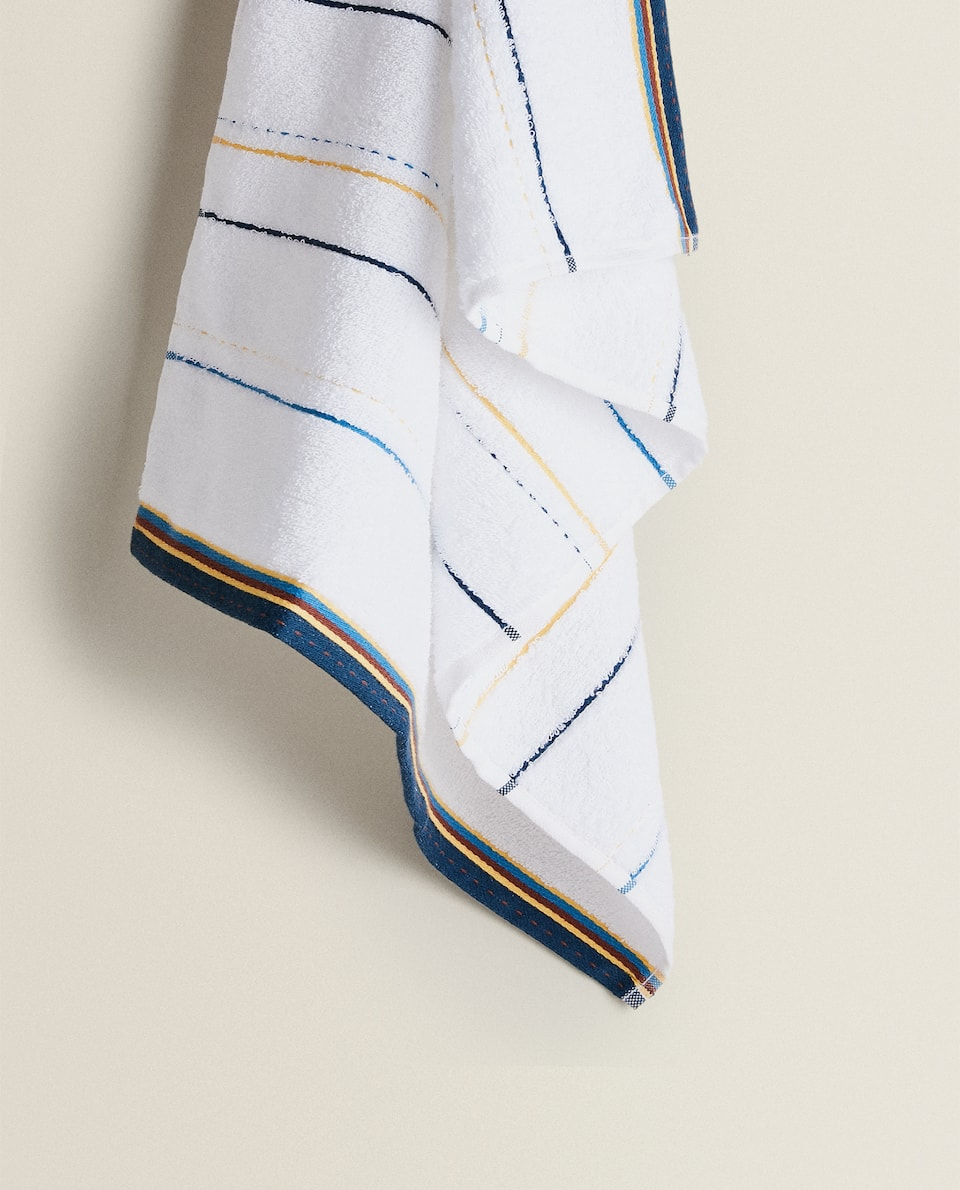 STRIPED TERRYCLOTH KITCHEN TOWEL