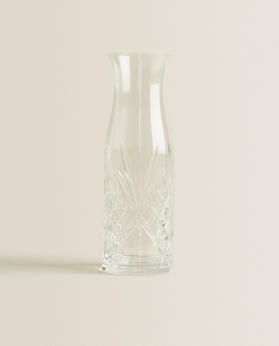 CRYSTALLINE GLASS DECANTER