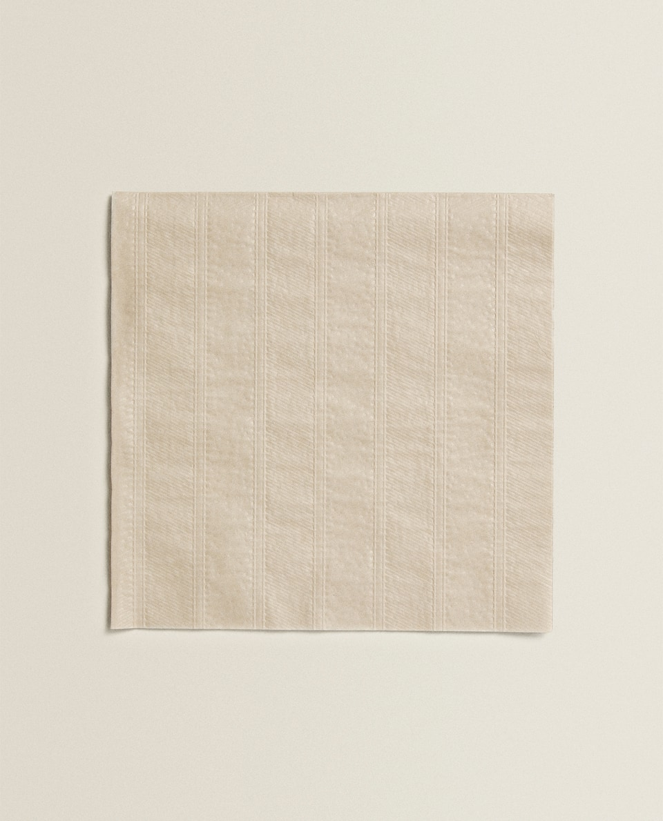 SERVIETTES DE TABLE RELIEF (LOT DE 20)
