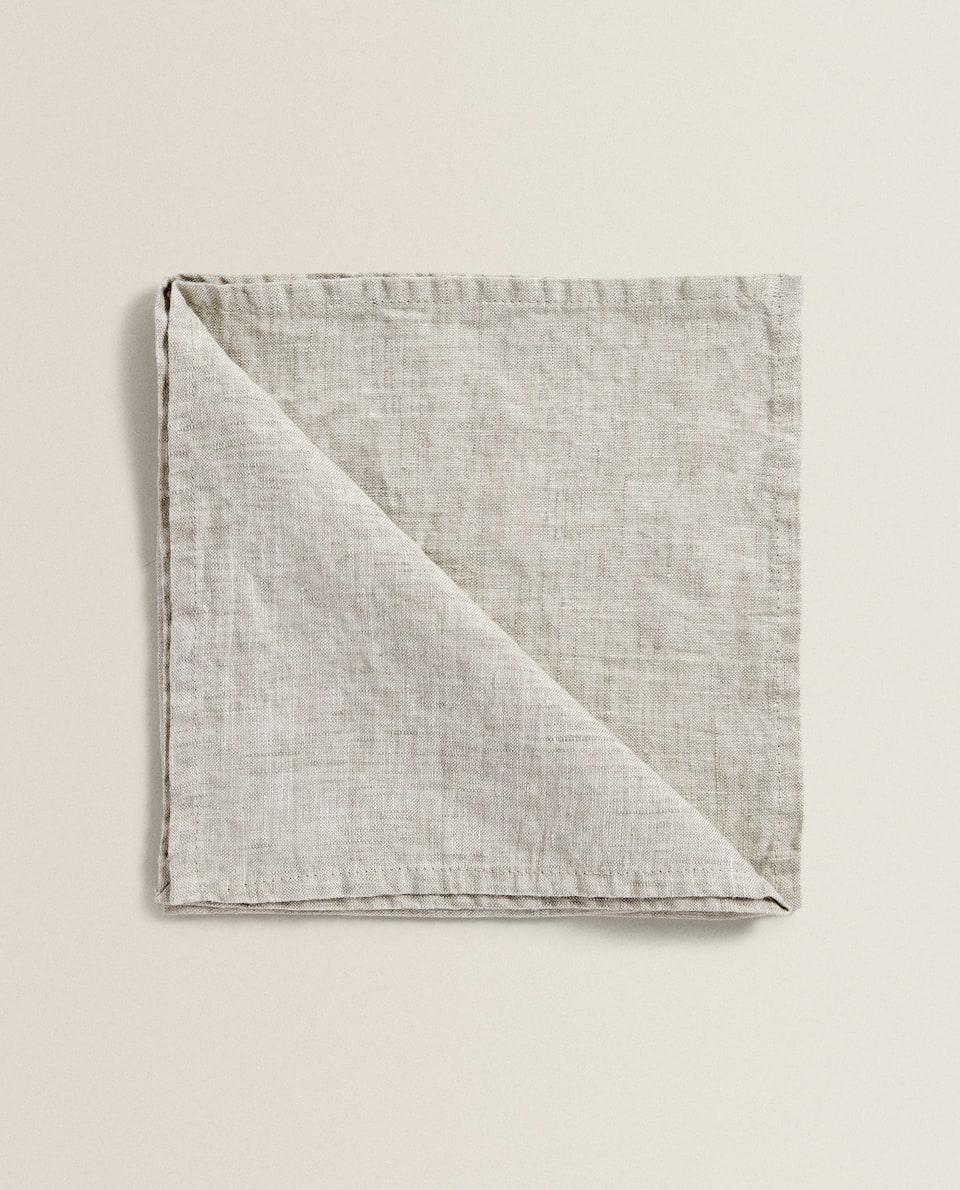 SERVIETTE DE TABLE LIN VINTAGE (LOT DE 2)