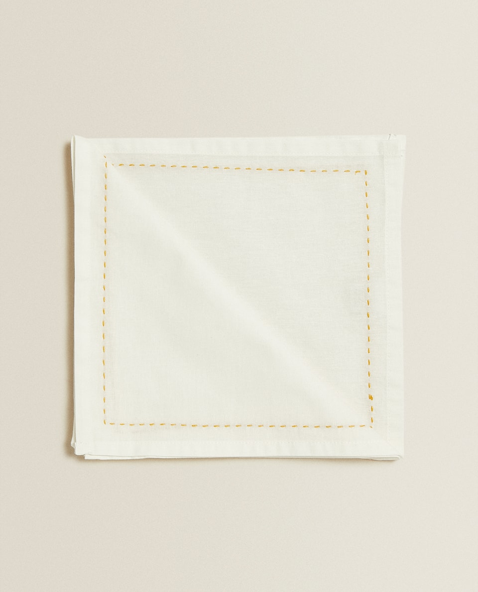 EMBROIDERED NAPKINS (PACK OF 4)