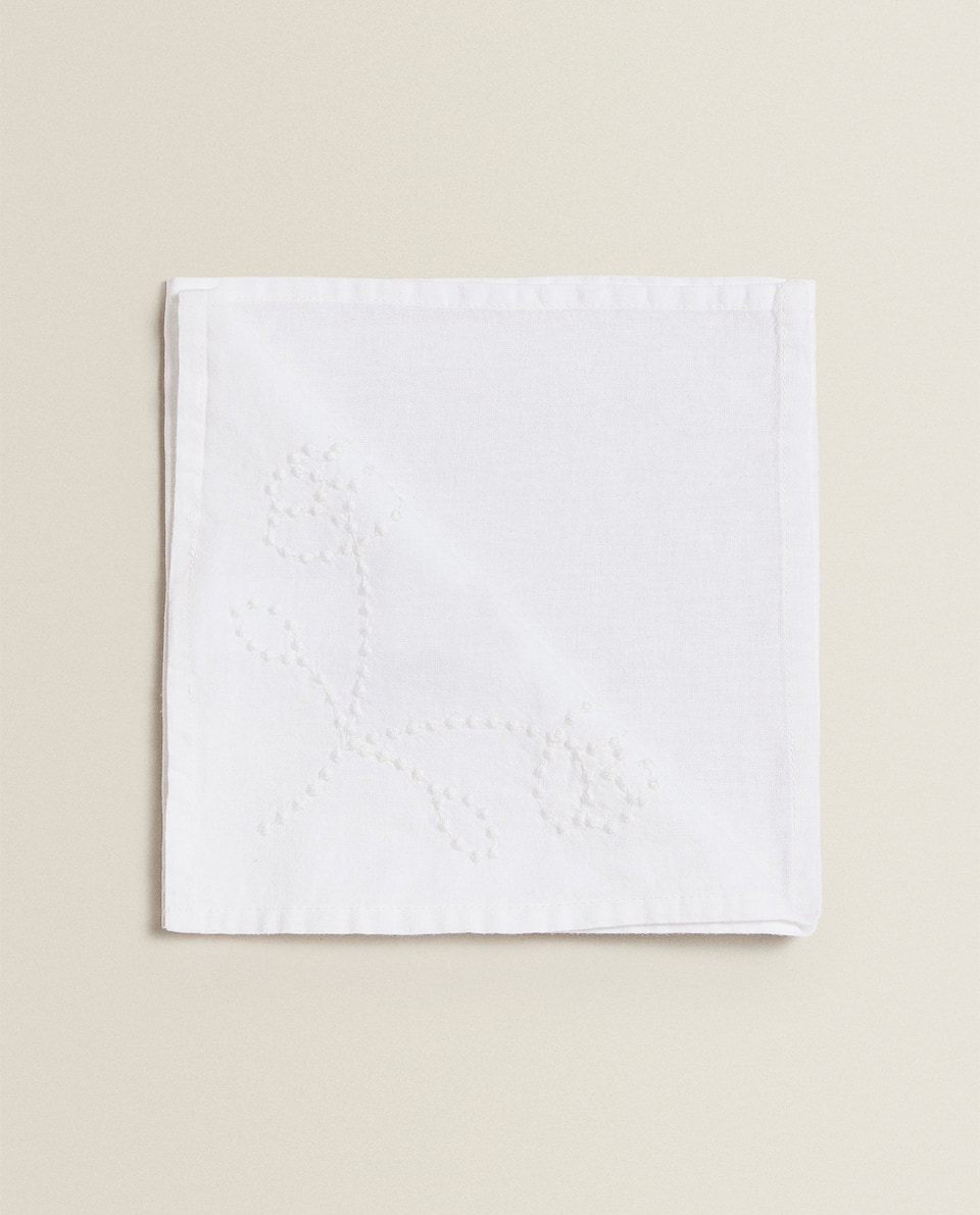 SERVIETTES DE TABLE BRODERIE (LOT DE 4)