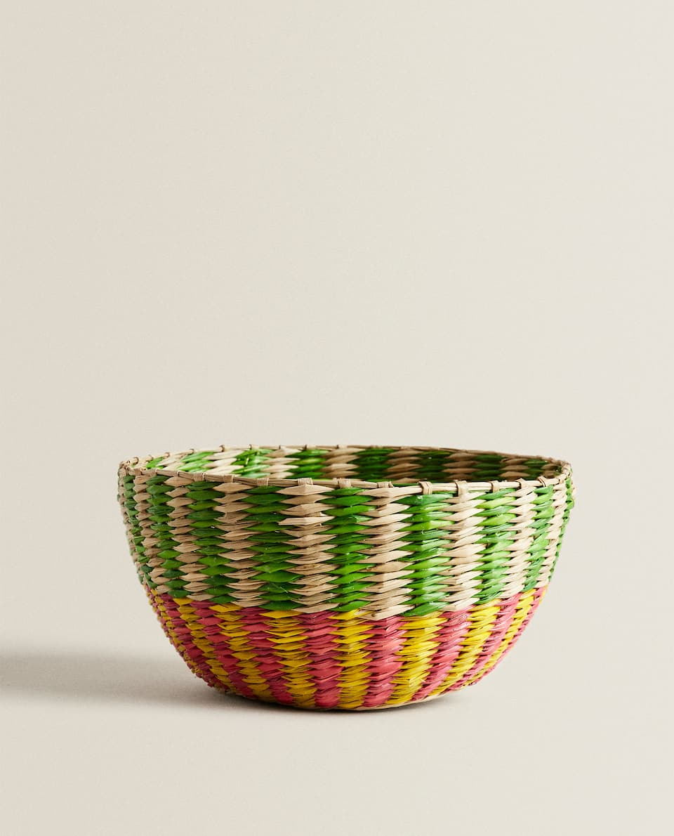 TWO-TONE FIBRE BASKET