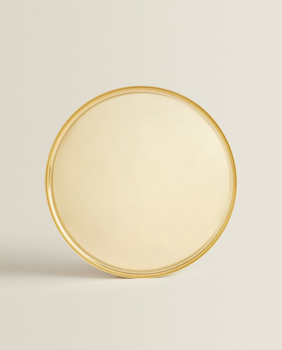 GOLDEN ROUND TRAY