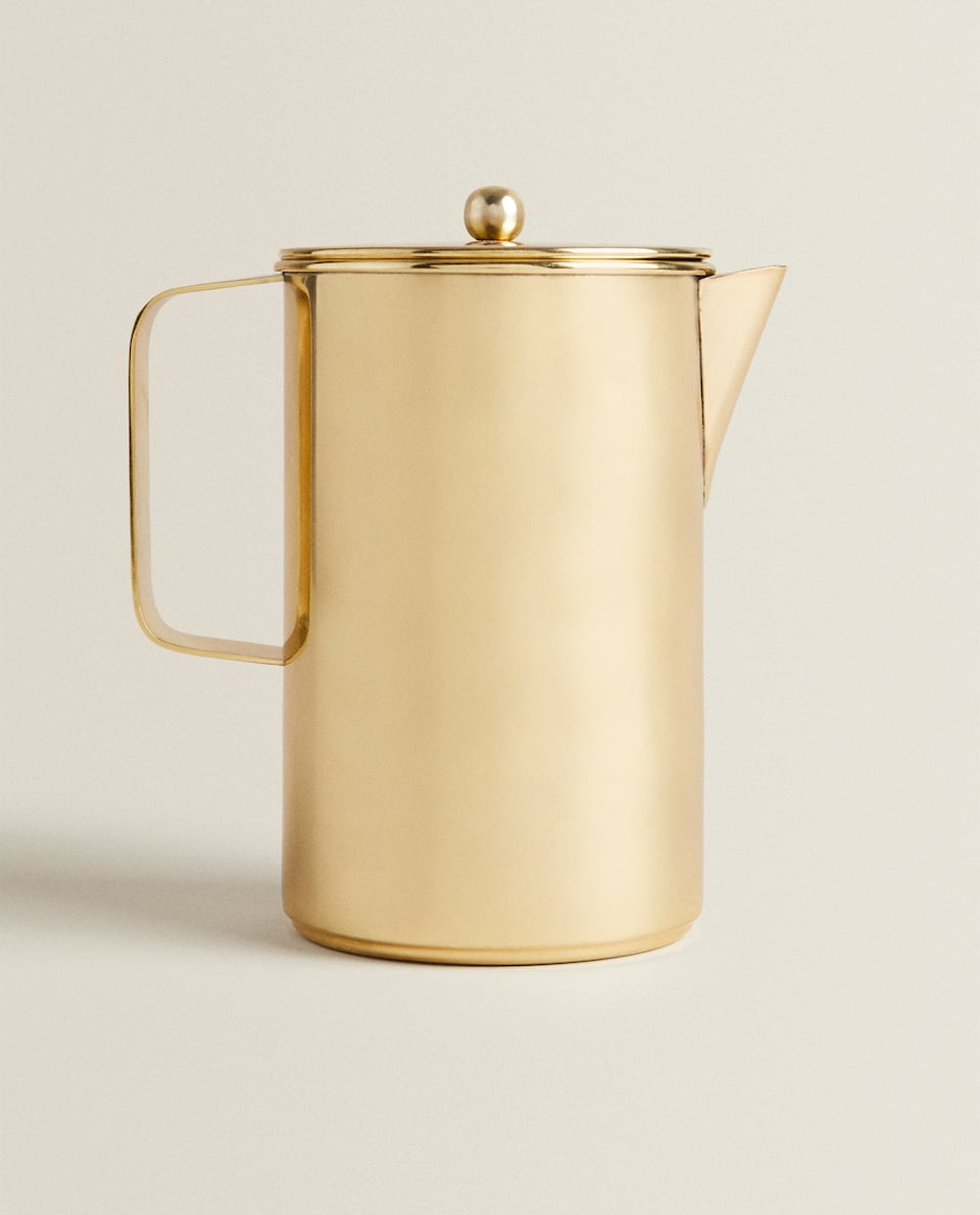 METAL JUG WITH GOLD DETAIL
