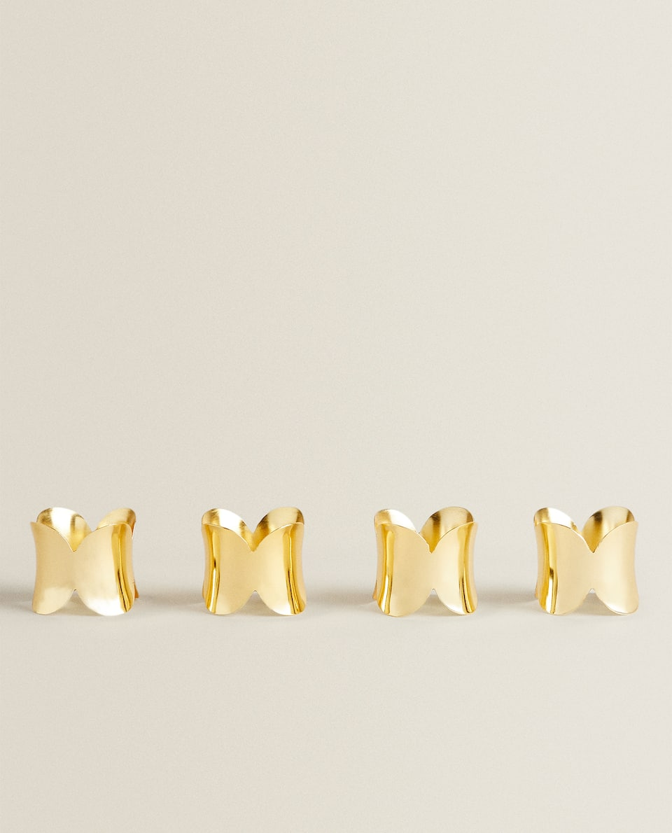 GOLD METAL NAPKIN RING (PACK OF 4)