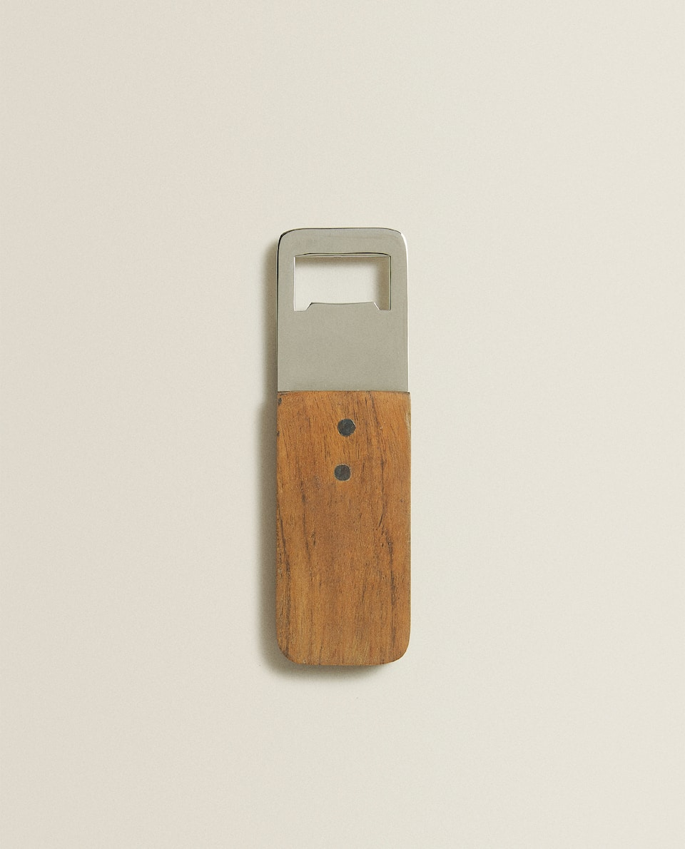 BOTTLE OPENER WITH WOODEN HANDLE
